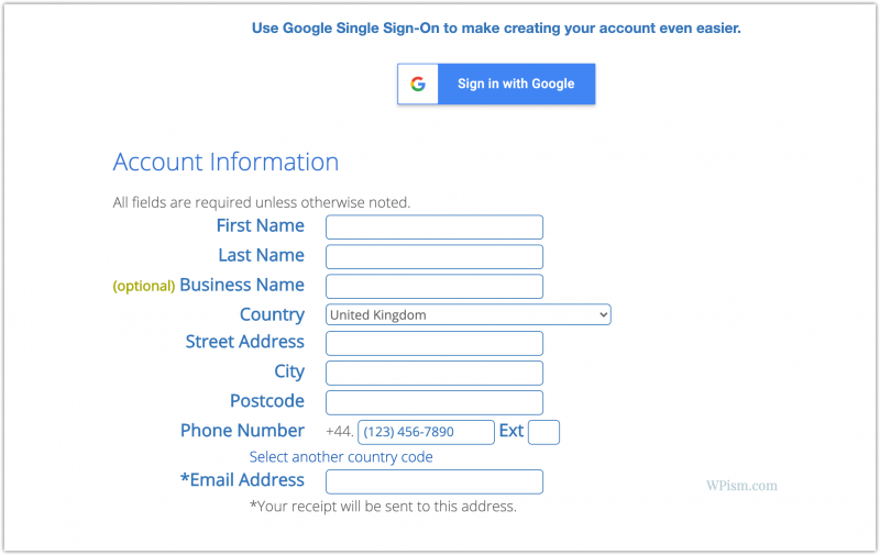 Bluehost Account Information Discount Details