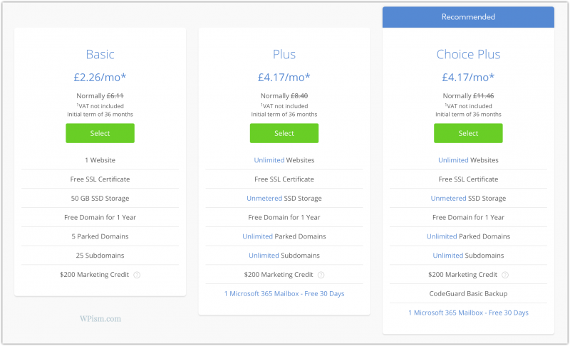 Bluehost Pricing for plan deals new accounts renewals