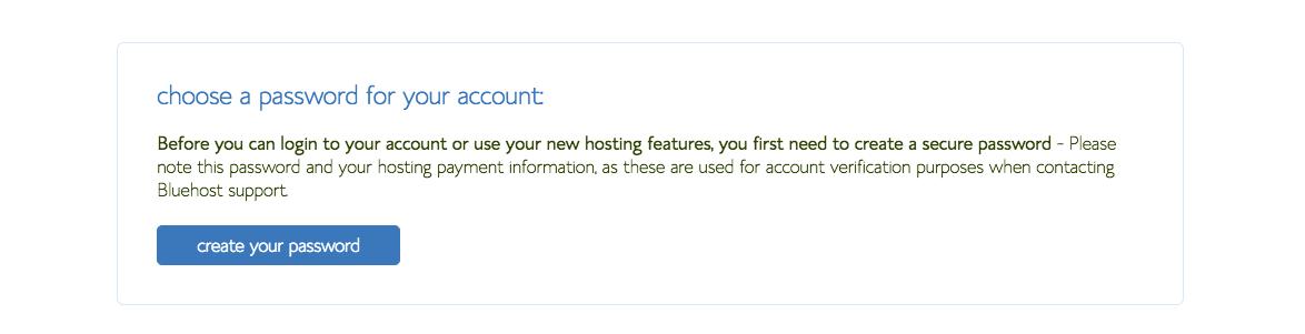 Create new password new blog
