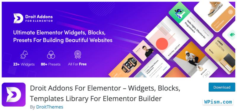 Droit Elementor Addons Free Download
