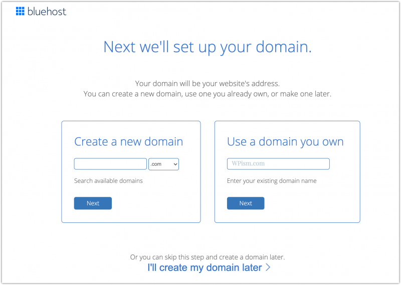 Free Domain Setup Bluehost Offer Coupon