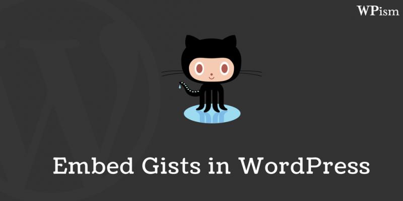 Embedding GitHub Gists in WordPress