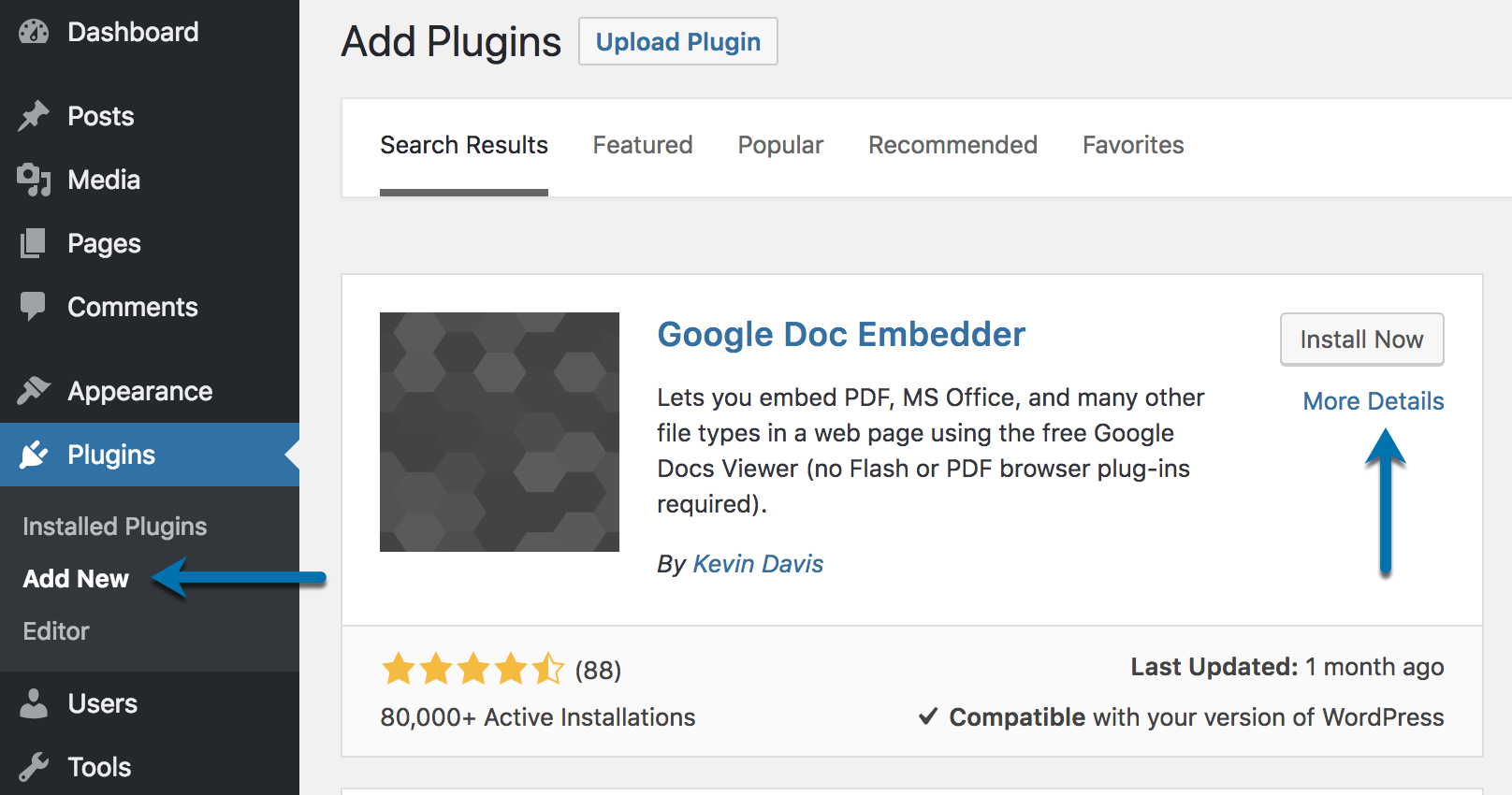 Google Doc Embedder Plugin Download Install