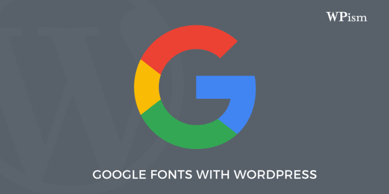 Use Google's Font API in your WordPress Themes