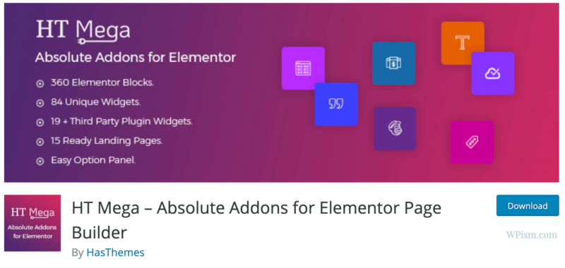 HT Mega Absolute Addons for Elementor Page Builder
