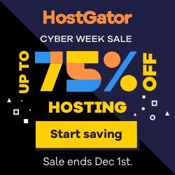 HostGator Black Friday Cyber Monday Sale