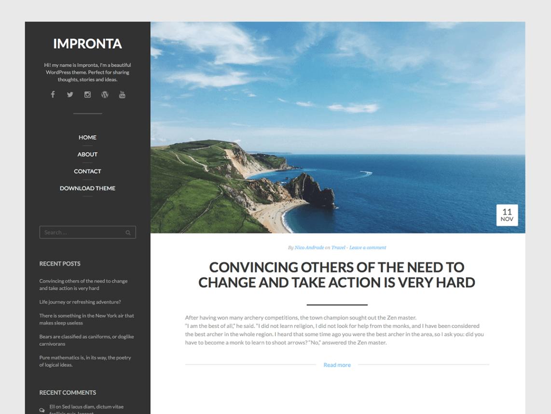 Impronta By Quema Labs WordPress Theme