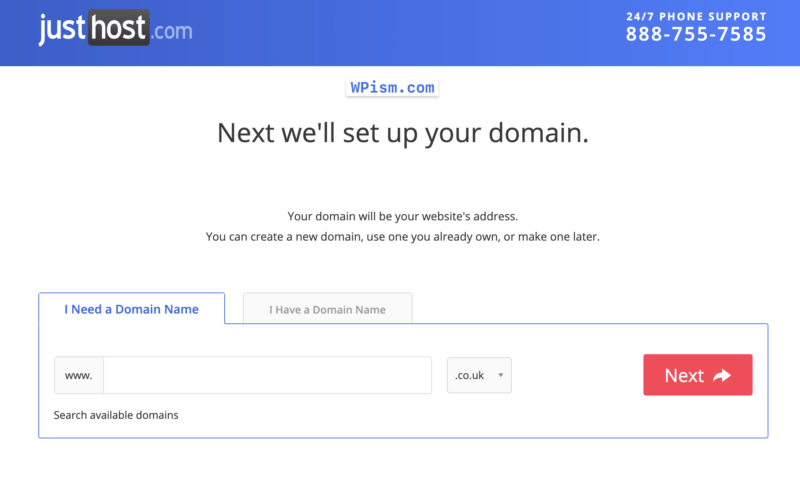 Justhost free domain coupon