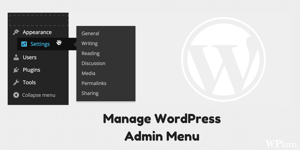 Manage your WordPress Admin Menu with Free Menu Manager Plugin