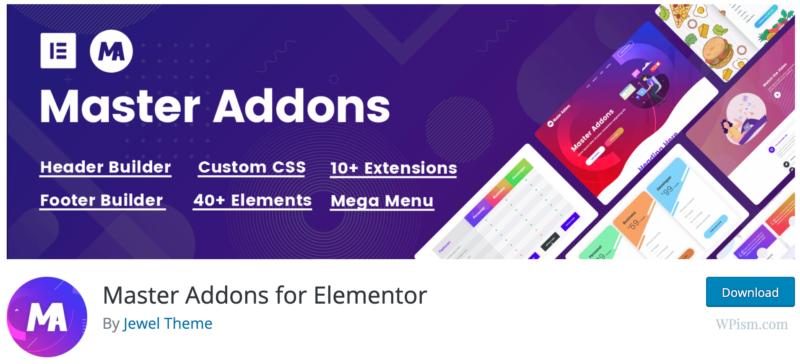 Master Addons for Elementor Download