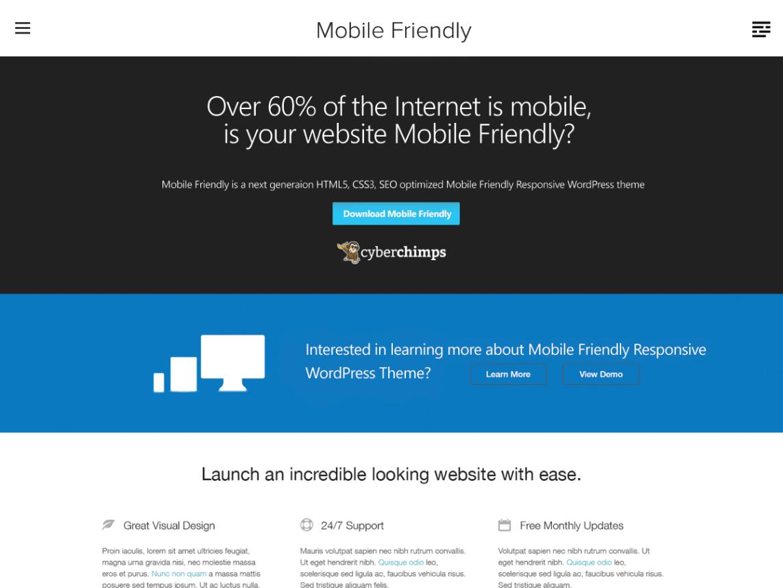 Mobile Friendly By CyberChimps WordPress Theme