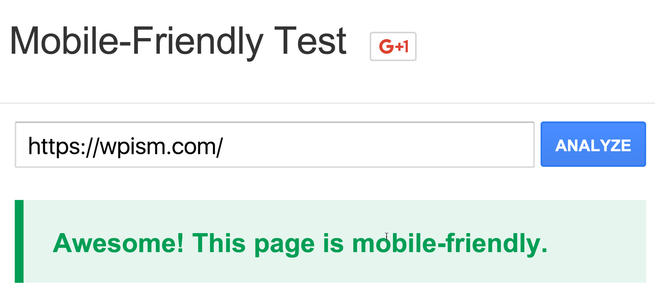 Mobile Friendly Test WPism