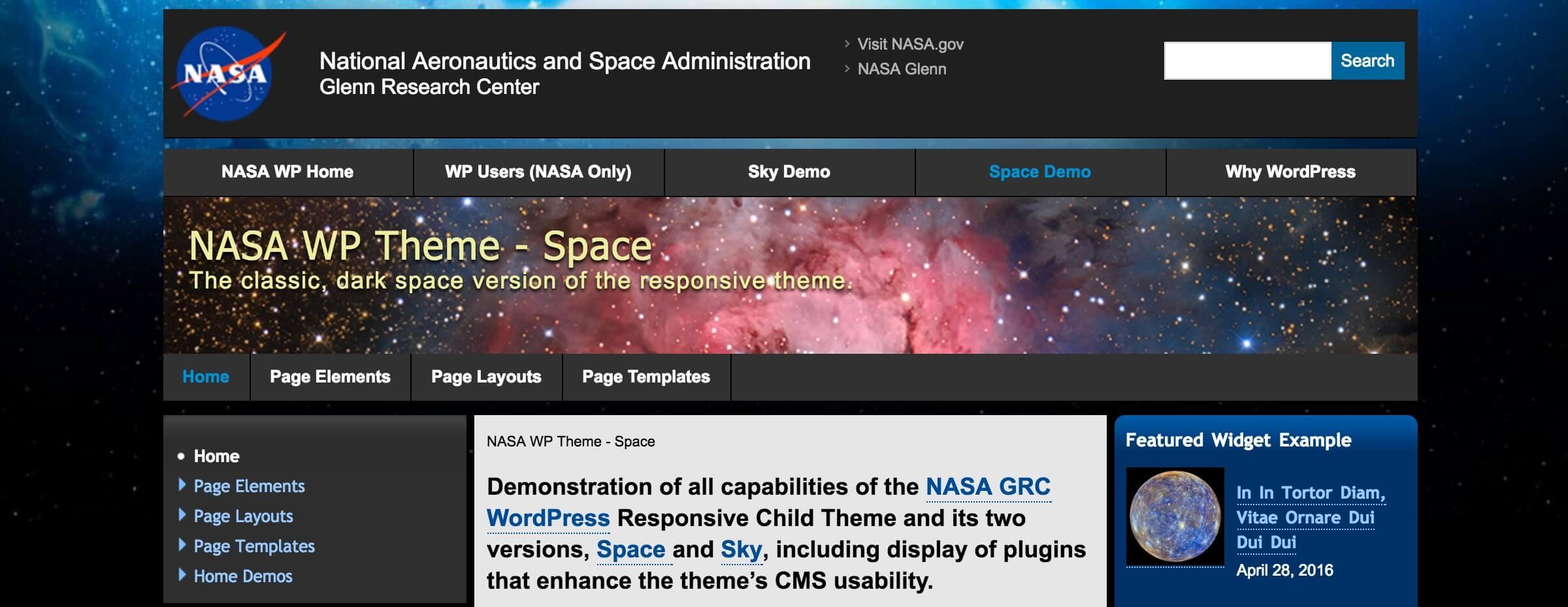 NASA WordPress Theme