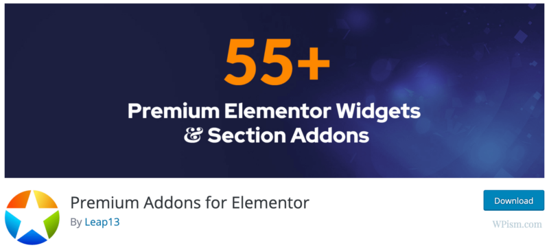 Premium Addons for Elementor Addons Download section
