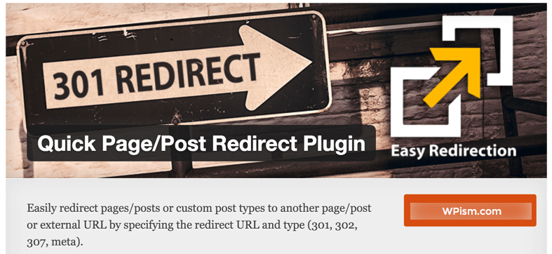 Quick Page Post redirect plugin