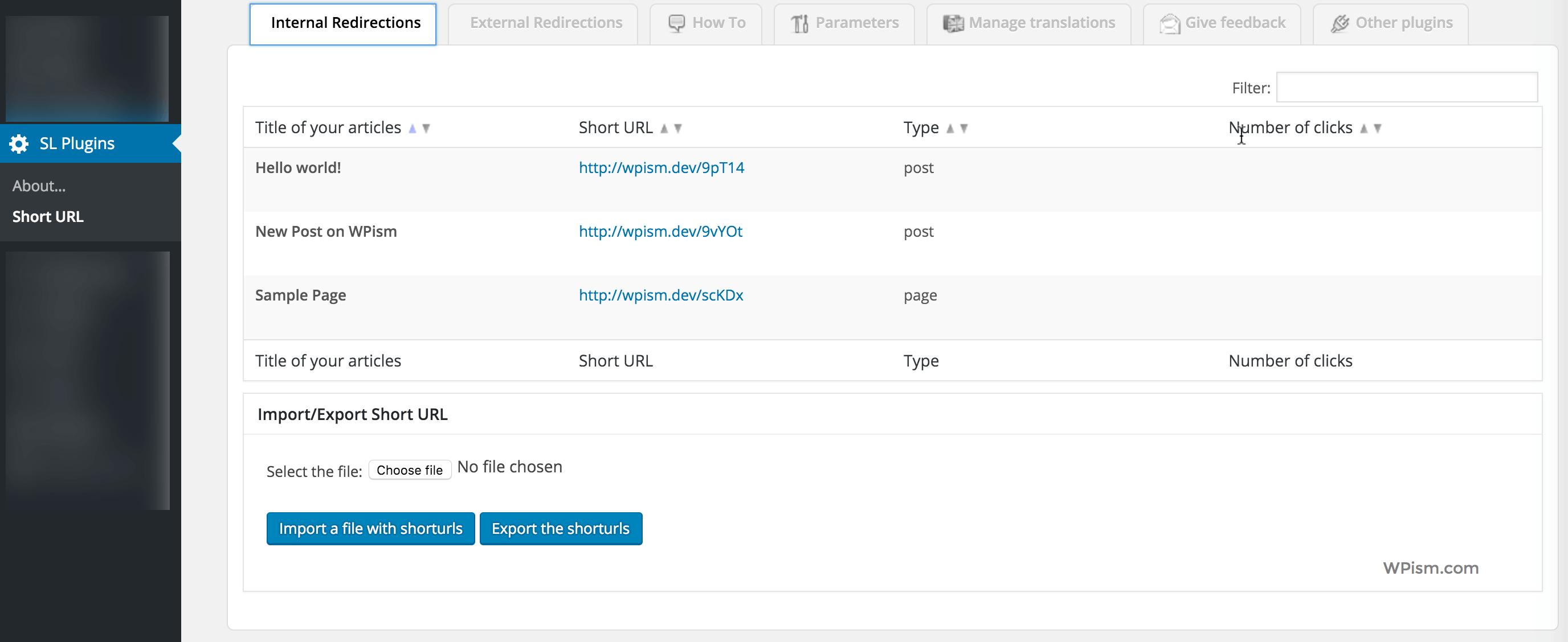 Shortlink Short URL Plugin Settings