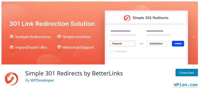 Simple 301 Redirects by BetterLinks WordPress Plugin