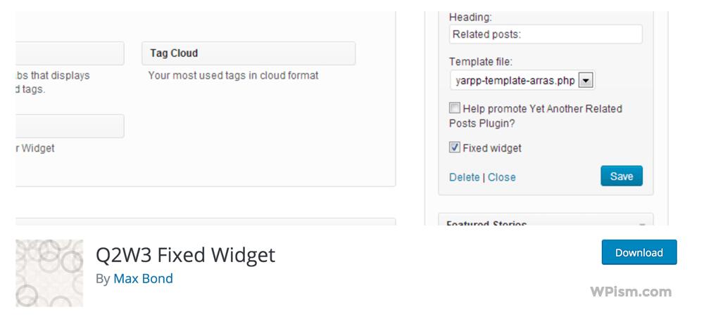 Sticky Sidebar Widget WordPress