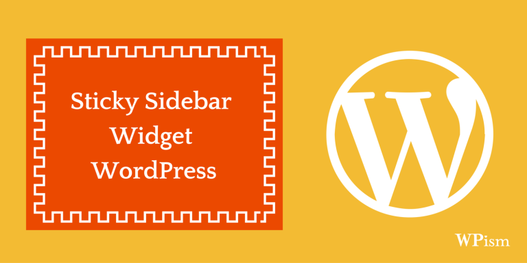 How to Add a Floating Sticky Sidebar Widget in WordPress