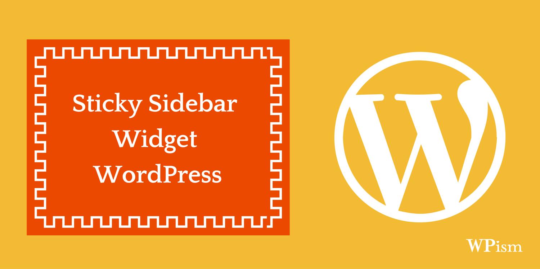 wordpress sidebar how to add