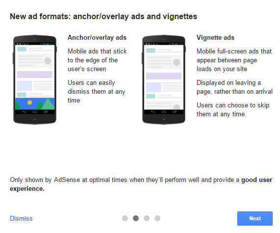Two new ad Formats Anchor Vignette Ads