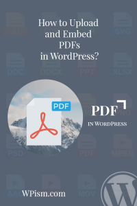 Upload Embed PDF in WordPress Pinterest