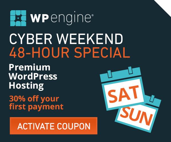WP Engine Black Friday Weekend 2015 Deal