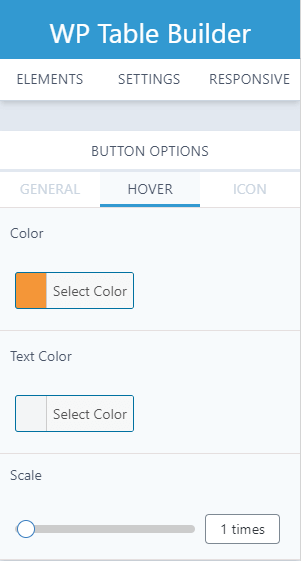 WP Table Builder - hover Options pro