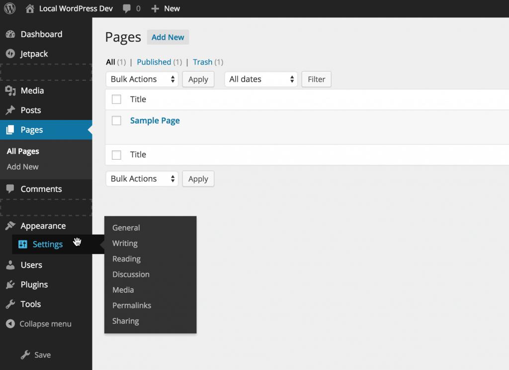 WordPress Admin Menu Manager Plugin Settings
