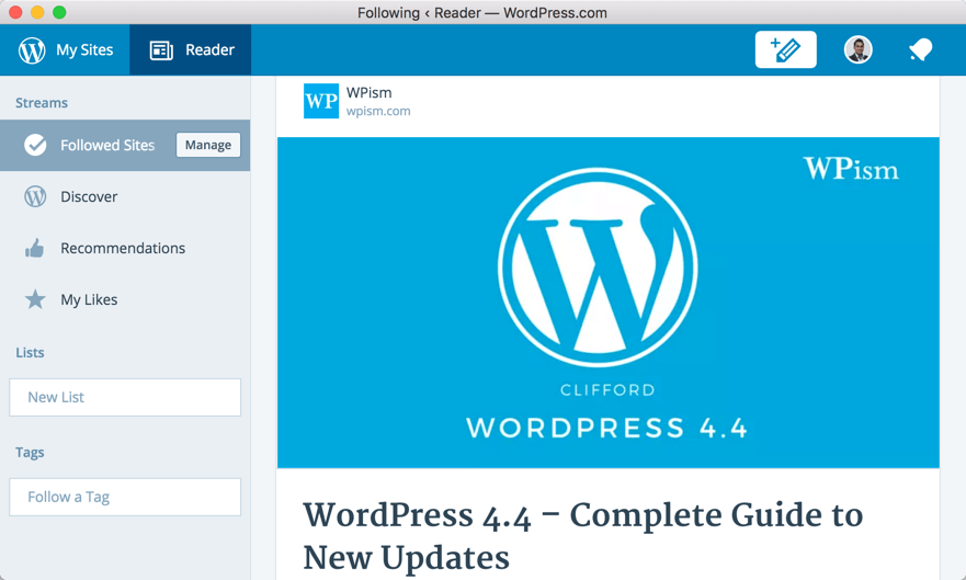 WordPress Application Reader