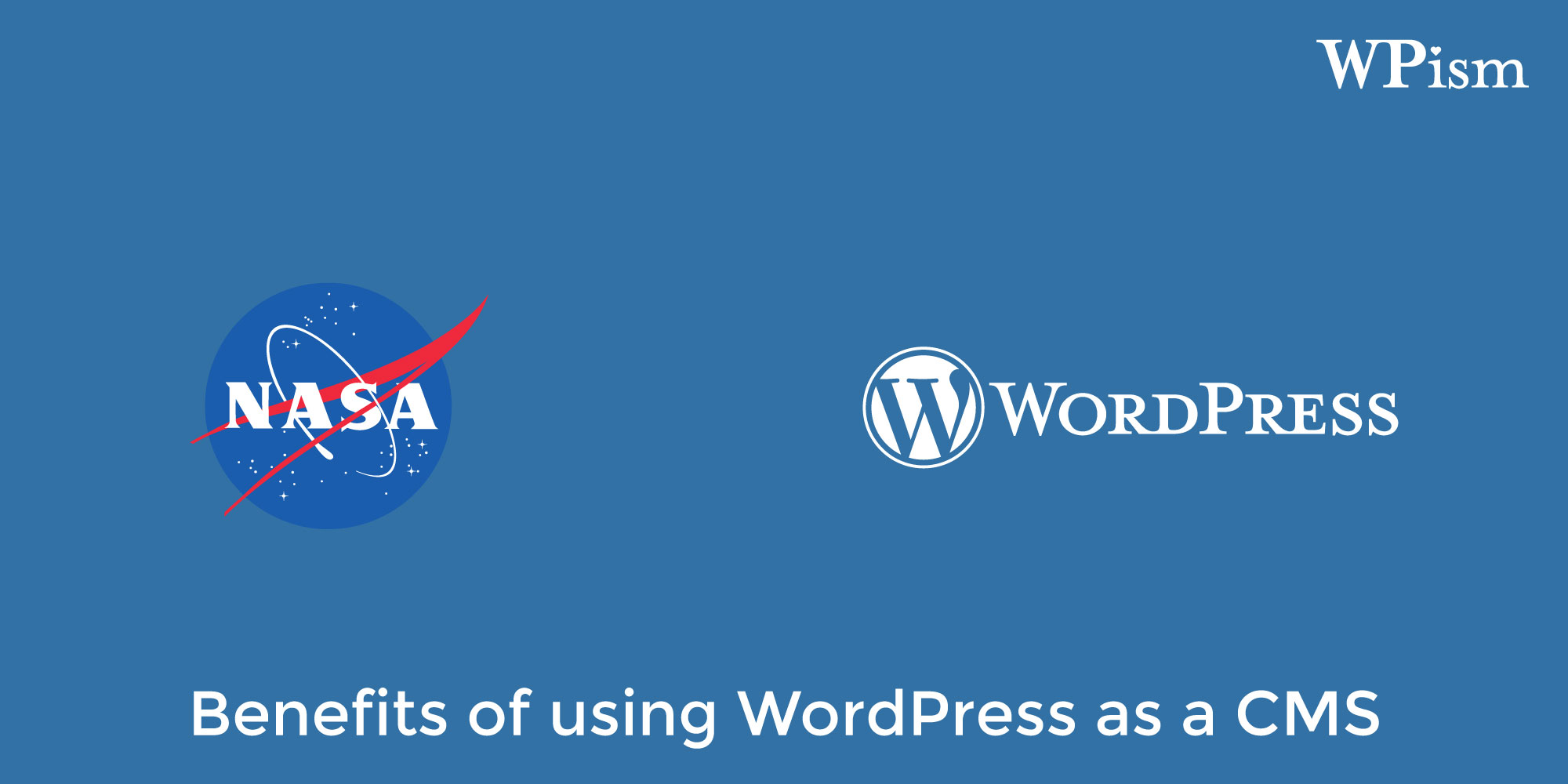 A NASAwebsite publishes about benefits of using WordPress as a CMS