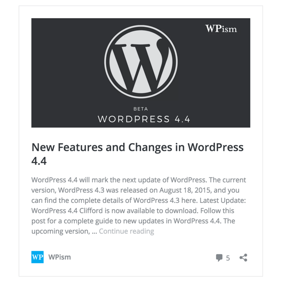 WordPress Post Embeds Preview