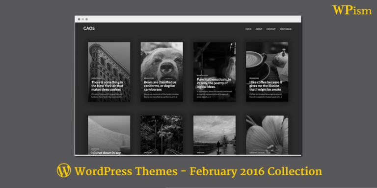 Free WordPress Themes – February 2016 Collection